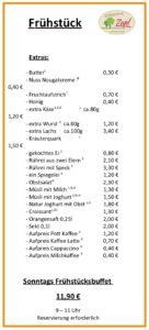 Hofmarkt Zapf Cafe | Frühstückskarte Seite 03